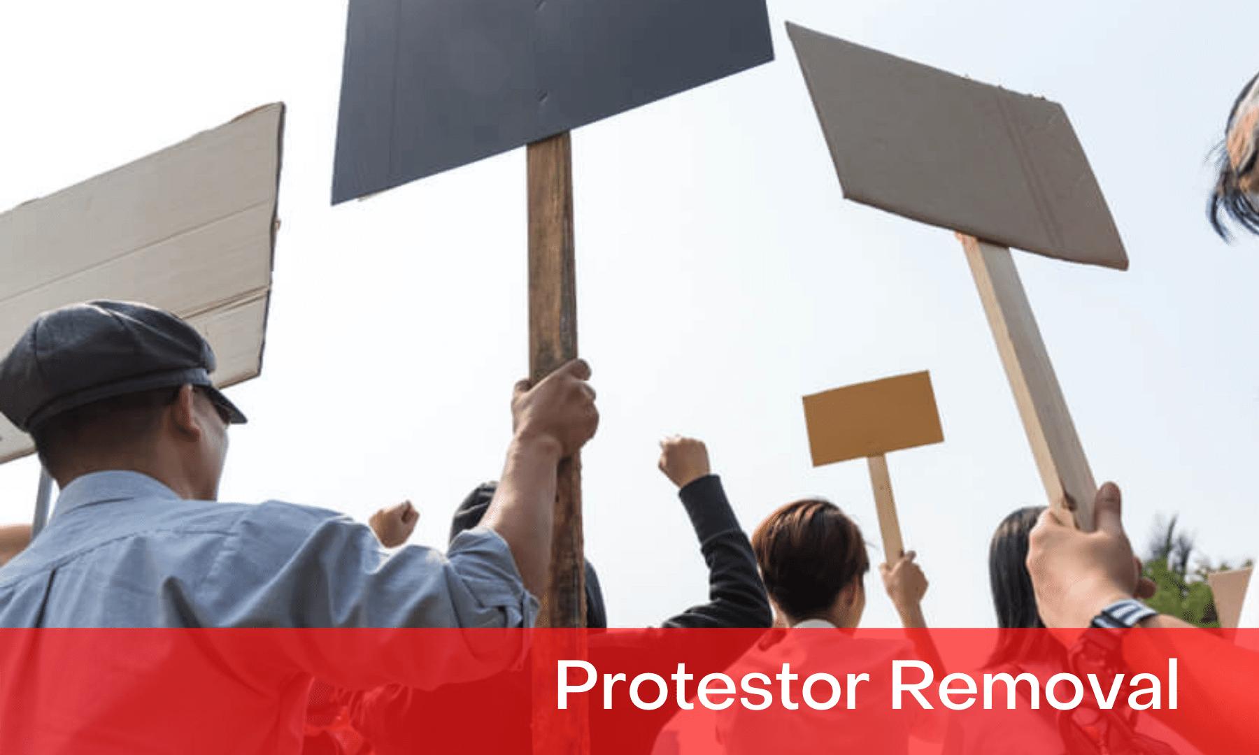 protestor removal