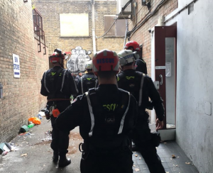 removal commercial squatters