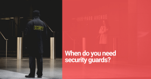 security guard at business entrance