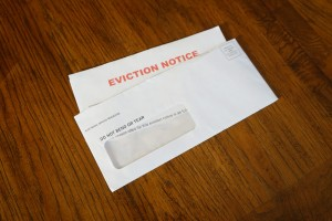 An Eviction Notice Document on Desk