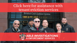 Able Investigations team assisting with tenant evictions in Bristol