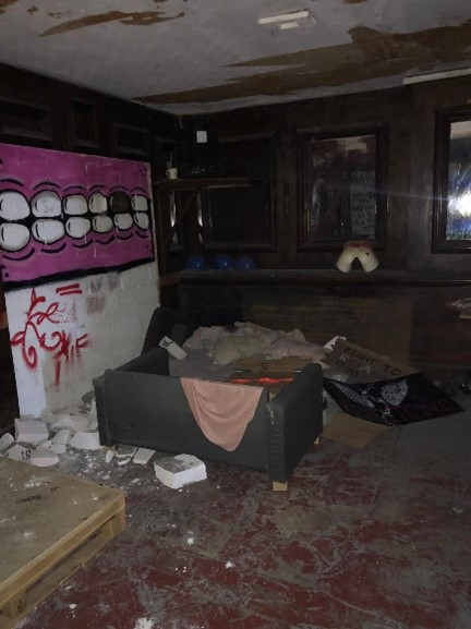 bristol property damaged by squatters